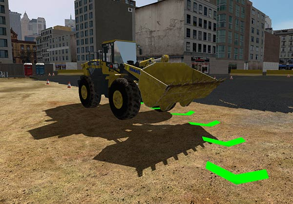 WorksiteVR Simulator - Wheel Loader Basic Travelling Training