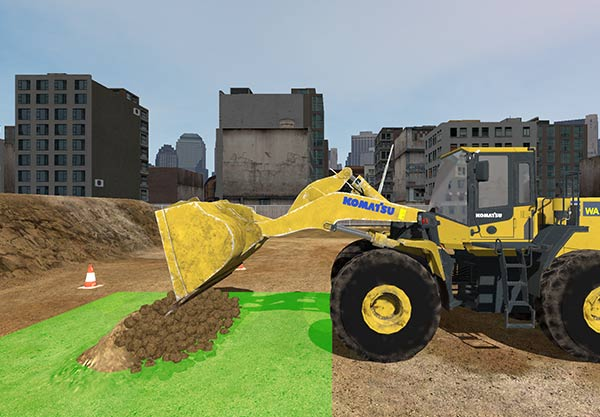 WorksiteVR Simulator - Wheel Loader Dumping Target